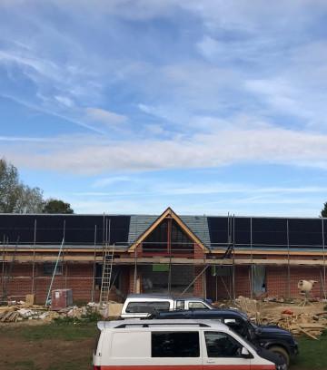 Solar array for a new build, Hampshire