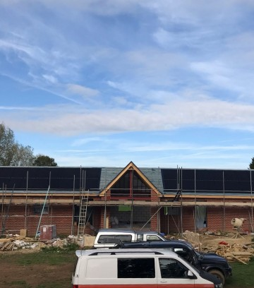 Solar array for a new build, Hampshire